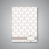 Moderne abstracte malplaatjelay-out voor brochure Stock Afbeeldingen