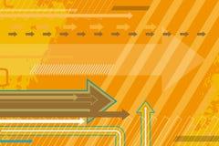 Moderne abstracte oranje achtergrond stock illustratie