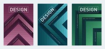 Moderne abstrakte geometrische Abdeckung der Größe a4 entwirft für Broschüren-Mag lizenzfreie abbildung