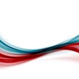 Moderne abstrakte Linie transparenter Hintergrund des blauen Rotes der Fusion lizenzfreie abbildung