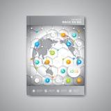 Moderne abstrakte Schablonenplanbroschüre Lizenzfreie Stockfotos