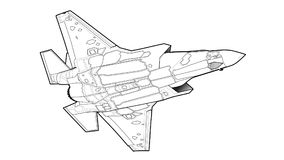 Moderne Amerikaanse straalvechtersvliegtuigen Stock Foto's