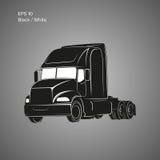 Moderne amerikanische LKW-Vektorikone Schwere Transportillustration Lizenzfreies Stockbild