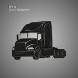 Moderne amerikanische LKW-Vektorikone Schwere Transportillustration Stockfotos