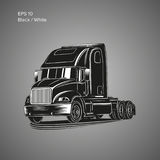 Moderne amerikanische LKW-Vektorillustration Schweres Transportbild Stockfoto
