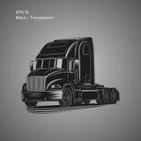 Moderne amerikanische LKW-Vektorillustration Schweres Transportbild Lizenzfreie Stockfotografie