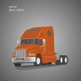 Moderne amerikanische LKW-Vektorillustration Schweres Transportbild Lizenzfreies Stockfoto