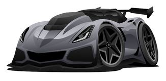 Moderne amerikanische Sport-Auto-Vektor-Illustration lizenzfreies stockfoto