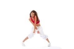 Moderne amincissez la danseuse de femme de type de danse Images libres de droits