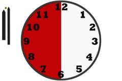 Moderne analoge die klokken in eenvoudig ontwerp worden gemaakt stock illustratie
