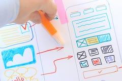 Moderne Anwendung Ux-Entwurfs Softwareentwicklung Ui-Schnittstelle App stockfoto