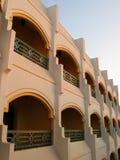 Moderne Arabische architectuur Royalty-vrije Stock Afbeeldingen