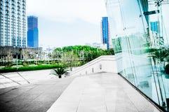 Moderne architecturale buitenkant Stock Foto's