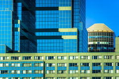 Moderne architecturale details in Baltimore van de binnenstad, Maryland Stock Foto