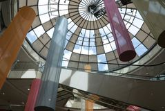 Moderne architecture 1. Fragment of modern architecture. Glass roof Stock Image