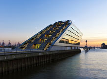 Moderne Architectuur bij de Haven van Hamburg Royalty-vrije Stock Afbeelding