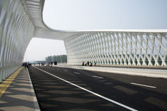 Moderne architectuur, brug Royalty-vrije Stock Fotografie