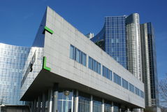 Moderne architectuur/de bedrijfsbouw Stock Foto