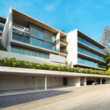 Moderne architectuur, de bouw Stock Afbeelding