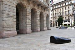 Moderne architectuur in de straat van Boedapest Royalty-vrije Stock Afbeeldingen