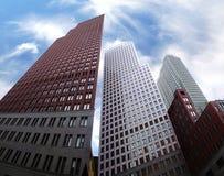 Moderne architectuur in Den Haag, Nederland Royalty-vrije Stock Afbeelding