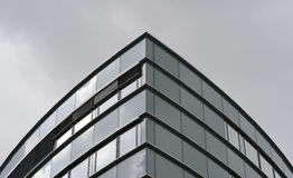 Moderne architectuur in Dusseldorf in Duitsland Stock Afbeelding