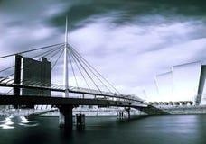 Moderne architectuur in Glasgow Schotland Stock Afbeeldingen