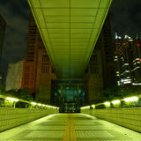Moderne architectuur in het Westen Shinjuku bij nacht Stock Foto