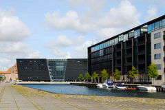 Moderne architectuur in Kopenhagen Stock Foto