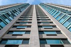 Moderne architectuur, minimaal ontwerp en art. Stock Afbeelding