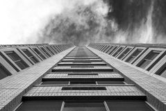Moderne architectuur, minimaal ontwerp en art. Stock Foto's