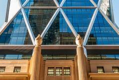 Moderne architectuur, minimaal ontwerp en art. Royalty-vrije Stock Foto's