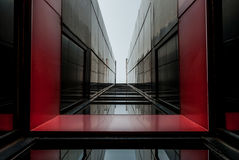 Moderne architectuur, minimaal ontwerp en art. Royalty-vrije Stock Foto