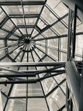 Moderne architectuur ontwerpmetaal stock afbeelding