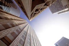 Moderne architectuur in Parijs Bedrijfs concept Stock Foto's