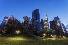 Moderne architectuur van de stad in van Frankfurt Royalty-vrije Stock Afbeeldingen