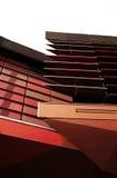 Moderne architectuur van muurdecoratie stock fotografie
