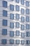 Moderne architectuur - vensters Stock Afbeelding