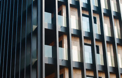Moderne architectuurvoorgevel Stock Afbeelding