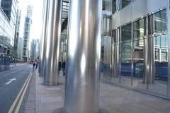 Moderne Architektur Canary Wharf, London Lizenzfreie Stockfotos