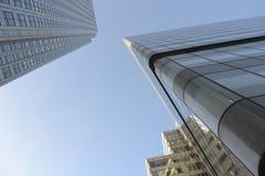 Moderne Architektur-Canary Wharf-Skyline London Lizenzfreie Stockbilder