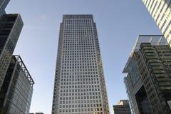 Moderne Architektur-Canary Wharf-Skyline London Lizenzfreie Stockfotos