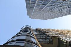 Moderne Architektur-Canary Wharf-Skyline London Lizenzfreies Stockbild