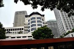 Moderne Architektur in der Republik Singapur Feuer, neu stockbilder