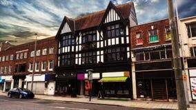 Moderne Architektur in der Stadt Southampton lizenzfreie stockbilder