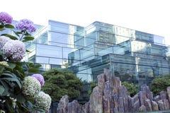 Moderne Architektur, a-Gebäude des Glases stockfoto