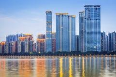 Moderne Architektur in Guangzhou, China lizenzfreies stockbild