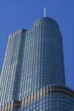 Moderne Architektur in im Stadtzentrum gelegenem Chicago stockbilder