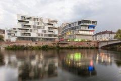 Moderne Architektur in Ulm, Deutschland Stockbild