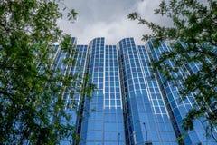 Moderne Architektur Zagrebs, aufwärts Ansicht Dubrovnik-Hotels, Kroatien Lizenzfreie Stockfotografie
